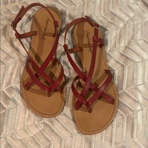 American Eagle strappy red sandals